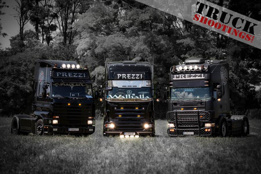 Prezzi Transporte Wien mit Scania V8 beim Trucker Treffen Blindenmarkt