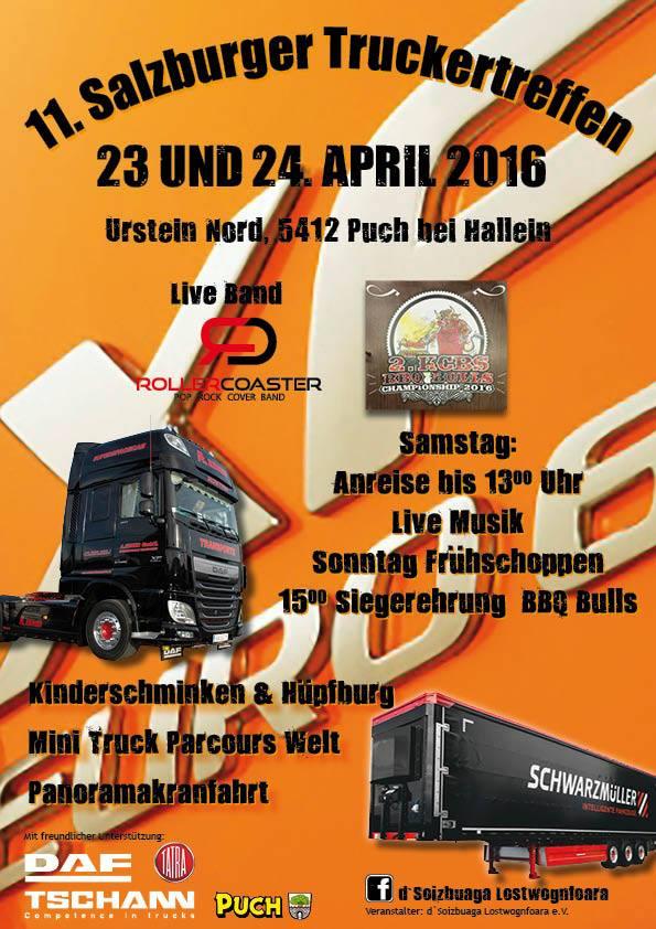 11. Salzburger Truckertreffen Flyer