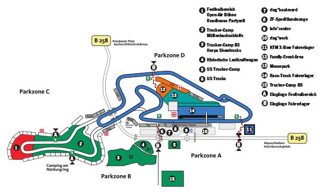 Lageplan Nürburgring